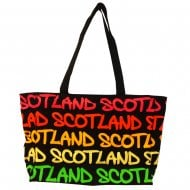 Mary Scotland Rainbow Bag Large Black/Fushia