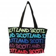 Mary Scotland Rainbow Bag Large Black/Royal Blue