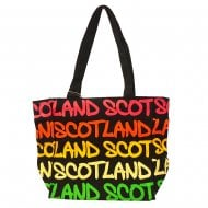 Mary Scotland Rainbow Bag Small Black/Fushia