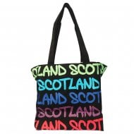 Mary Scotland Rainbow Bag Small Black/Royal Blue
