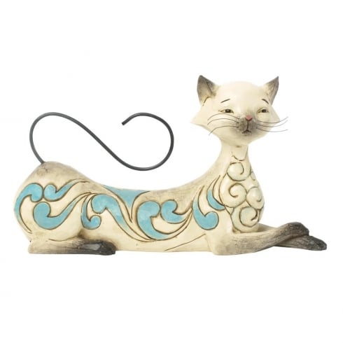 Jim Shore Heartwood Creek Maya Lying Siamese Cat Figurine