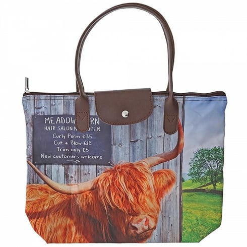 Border Fine Arts Meadow Barn Fold Away Tote Bag