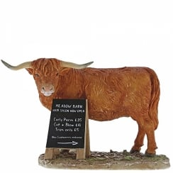 Meadow Barn Highland Cow Figurine