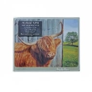Meadow Barn Highland Cow Trivet Small