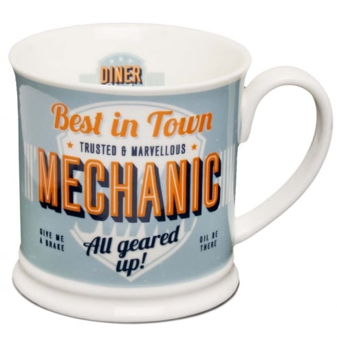 Diner Style Mugs Mechanic