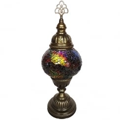 Medium Mixed Colour Mosaic Table Lamp
