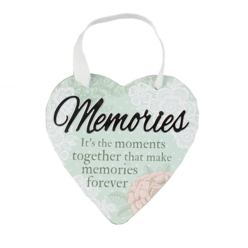Reflective Words Memories Hanging Heart