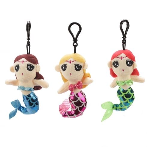 Puckator Mermaid Plush Keychain