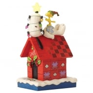 Merry & Bright Snoopy Figurine