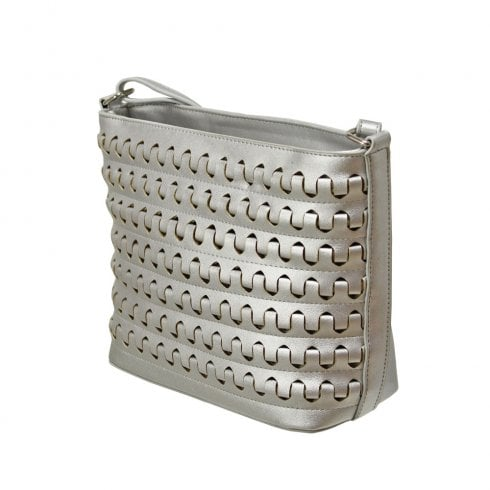 Envy Bags Metallic Crossbody Bag - Silver