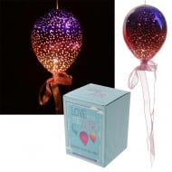 Metallic Pink & Purple Medium Glass Hanging LED Light Balloon