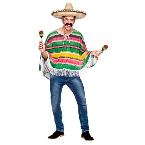 Wicked Costumes Mexican Bandit Poncho (O)