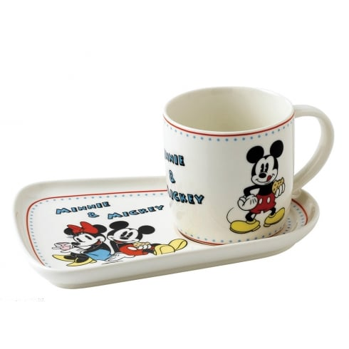 Disney Enchanting Collection Mickey and Minnie Snack Set