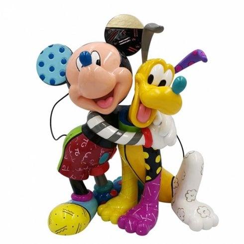 Disney By Britto Mickey and Pluto Figurine