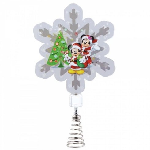 Disney Showcase Mickey & Minnie Mouse Tree Topper Holidazzler