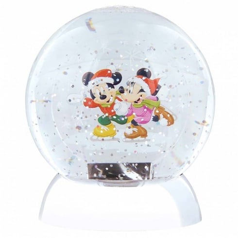 Disney Showcase Mickey & Minnie Mouse Waterdazzler Globe