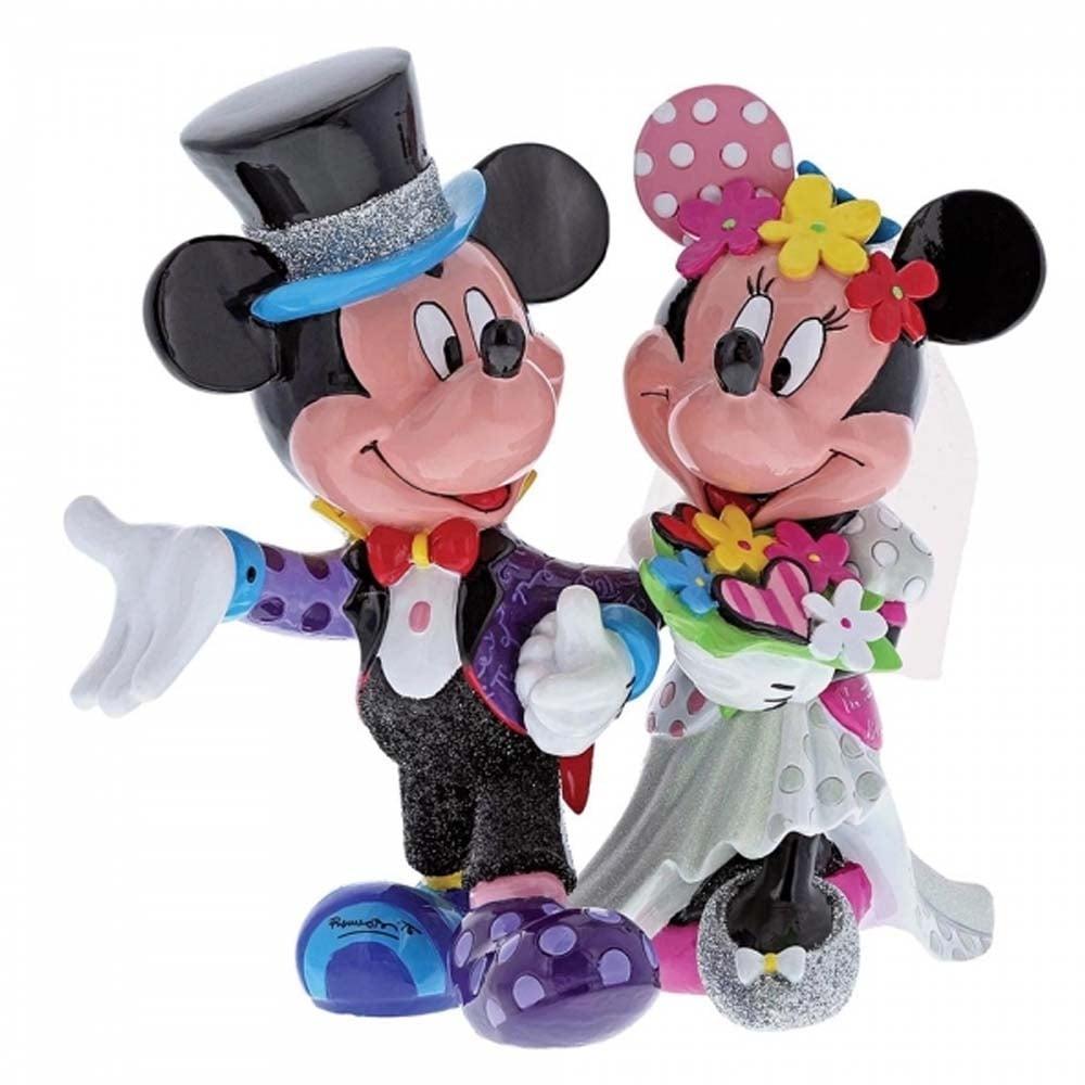 Disney by Britto Mickey & Minnie Mouse Wedding Figurine 4058179