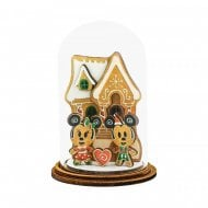 Mickey & Minnie Mouse With Gingerbread House Christmas Ornament A30544