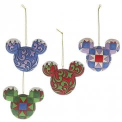 Mickey Mouse Head Hanging Ornament Set
