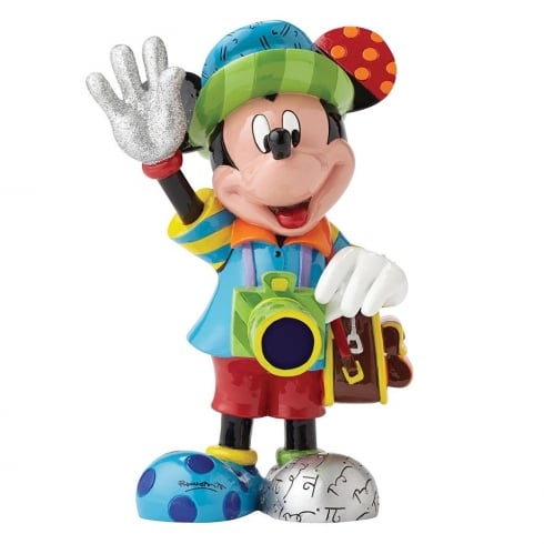 Disney By Britto Mickey Mouse Tourist Figurine