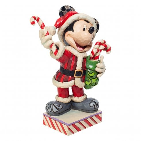 Disney Traditions Mickey Mouse with Candy Canes Figurine