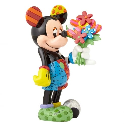 Disney By Britto Mickey Mouse with Flowers Figurine