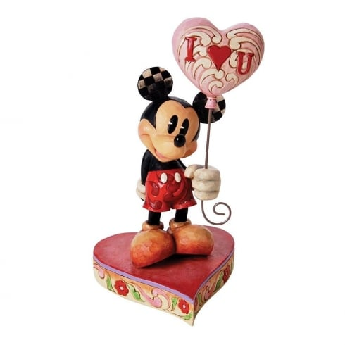 Disney Traditions Mickey Mouse with I Heart U Balloon