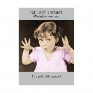 Midget Gems Just A Number Humour Birthday Card