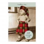 Midget Gems Kid Wearing A Kilt Humour Birthday Card