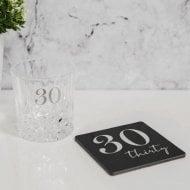 Milestones Whisky Glass & coaster - 30