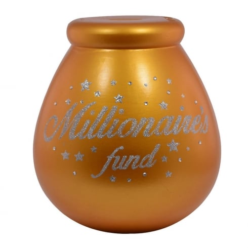 Pot of Dreams Millionaires Fund Ceramic Money Pot