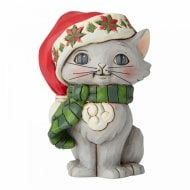 Mini Christmas Kitten Figurine