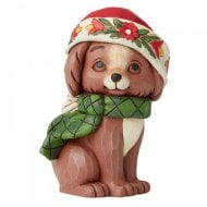 Mini Christmas Puppy Dog Figurine