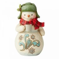 Mini Snowman With Cocoa Figurine