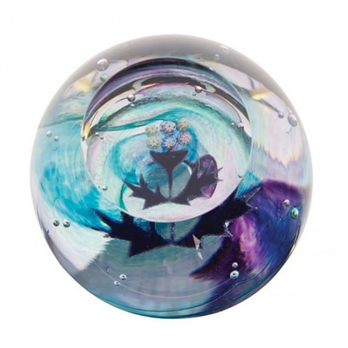 Caithness Glass Mini Thistle Paperweight