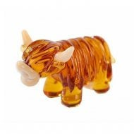 Miniature Glass Highland Cow Ornament