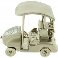 Miniature Golf Buggy Chrome Tone Clock