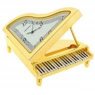 GTP Miniature Piano Goldtone Clock
