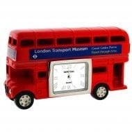 Miniature Red London Routemaster Bus Clock
