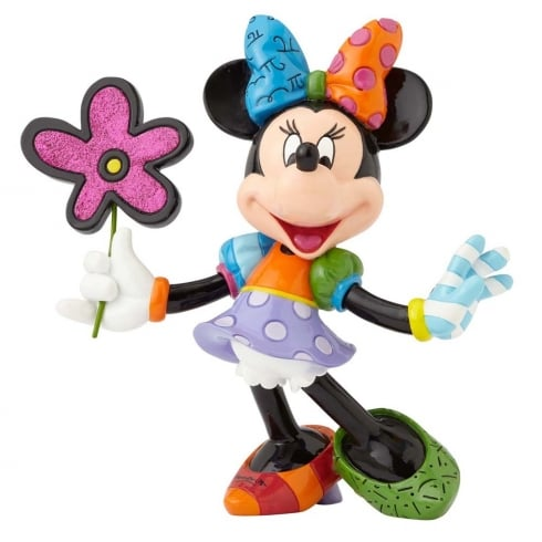 Disney By Britto Minnie Mouse with Flowers Figurine