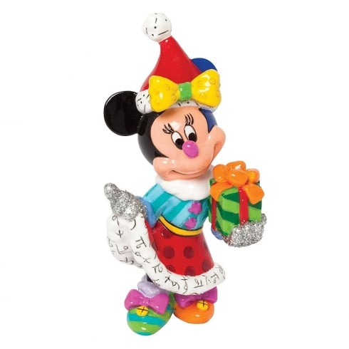 Disney By Britto Minnie Mouse With Present Mini Figurine