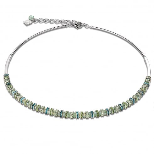 COEUR DE LION Mint Green Swarovski Crystal with Cut Glass Necklace