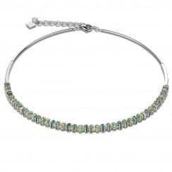 Mint Green Swarovski Crystal with Cut Glass Necklace
