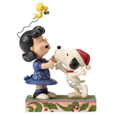 Jim Shore - Peanuts Mistletoe Mishap Lucy and Snoopy Figurine
