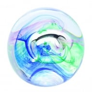 Mooncrystal Ocean Blue Paperweight