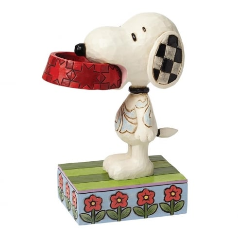Jim Shore - Peanuts More Food Please Snoopy With Dog Dish