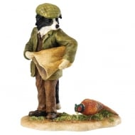 Morning Feed Border Collie Figurine