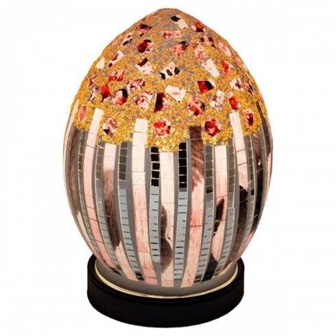 Mosaic Egg Flower Art Deco Lamp LM71AD