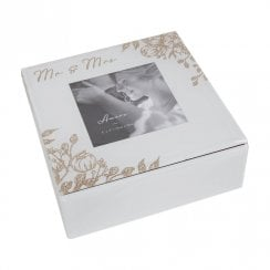 Mr & Mrs Glass Trinket Box