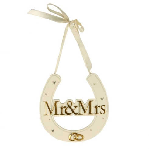 Amore Mr & Mrs Horseshoe Hanging Plaque